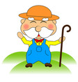funny farmer character vector image