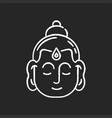 gautama buddha chalk white icon on black vector image