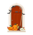 halloween door decorations front door with vector image vector image