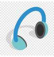 headphones isometric icon vector image vector image
