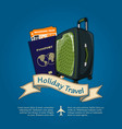 holiday travel banner or poster vector image vector image