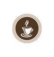 hot coffee logo vector image vector image