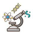 microscope laboratory science vector image vector image