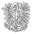 modern heraldic eagle is german vintage engraving vector image