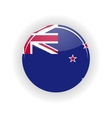 New Zealand icon circle vector image