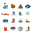 Pollution Icons Set vector image vector image