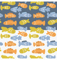 prints set with fishes vector image vector image