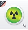 Radiation sign icon Danger symbol vector image vector image