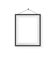 Rectangle Blank frame on a white vector image