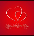 red simple happy valentines day card vector image vector image