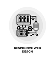 Responsive Web Design Line Icon vector image