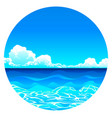 sea background in circle vector image