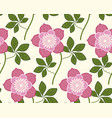 seamless pattern flower christmas rose vector image vector image
