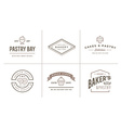 set bakery pastry elements and bread icons can vector image vector image