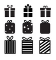 set of gift box icon on white background gift box vector image