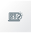 sitemap navigation icon line symbol premium vector image