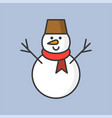 snowman filled outline icon for christmas theme vector image vector image