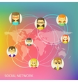 Social Media Circles Network vector image