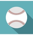 Softball ball icon flat style vector image vector image