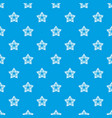 star petal pattern seamless blue vector image
