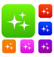 stars set color collection vector image
