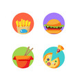 street food stickers badges for pack decoration vector image vector image