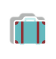 stylish icon in paper sticker style travel vector image vector image