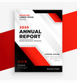 stylish red company annual report business vector image