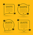 trendy block quote modern design elements creative vector image