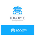 trolley cart food bangladesh blue solid logo with vector image