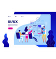 ui ux landing page best user experience vector image