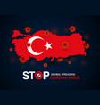 virus around turkey vector image