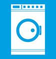 washing machine icon white vector image vector image
