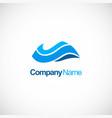 wave blue water company logo vector image