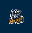 wolf mascot logo vector image vector image