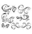 Swirl elements for design vector image