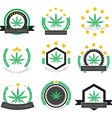 Medical cannabis logo set Medical marijuana logo vector image