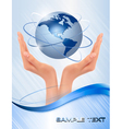 background with hands vector image