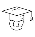 adress graduated icon outline style vector image