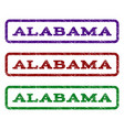 alabama watermark stamp vector image vector image
