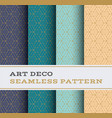 art deco seamless pattern 48 vector image vector image