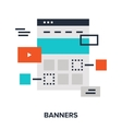 banners flat concept vector image vector image