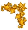 baroque ornamental antique gold element on white