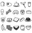 Basic Breakfast Icons Set vector image vector image