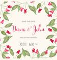 beautiful wedding invitation with watercolor vector image vector image