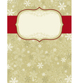 beige background with christmas elements vector image vector image