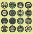 best choice good quality vintage labels set vector image vector image