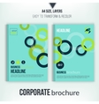 Brochure cover with overlapping circles vector image vector image