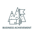 business achievement line icon business vector image vector image