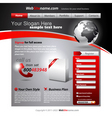business website template vector image vector image